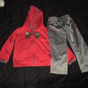 Under Armour jacket and pant set. 4t